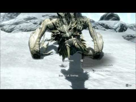 Skyrim - Speaking to Paarthurnax on The Throat of the World [HD]
