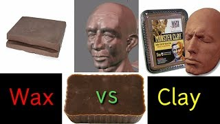 Microcrystalline Wax vs Clay for Monster Making, Sculpture, Casting - Differences Explained