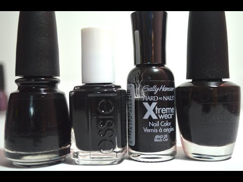 The Battle of The Black Nail Polishes - YouTube