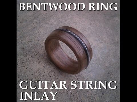 Guitar String Inlay for Bentwood Ring