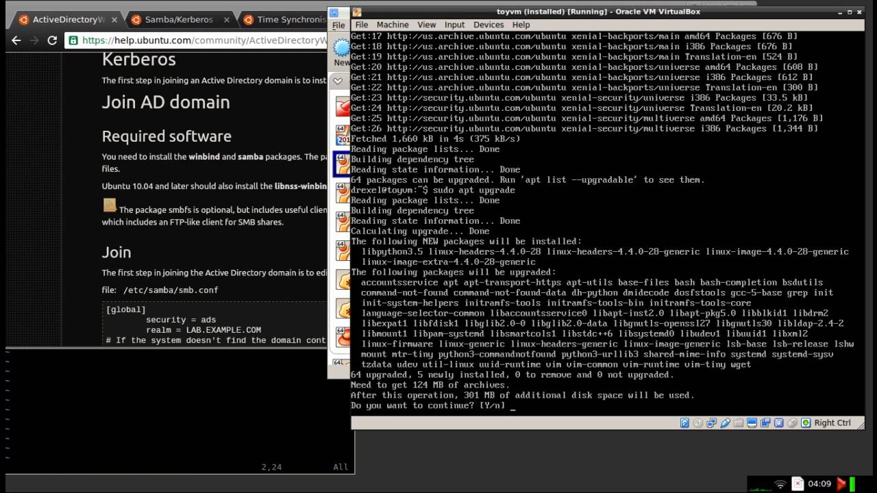 Joining Linux Server to Windows Domain