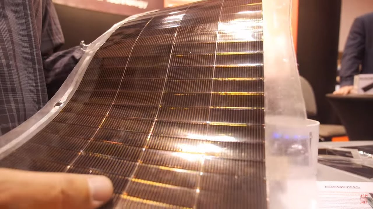 Alta Devices Flexible Solar Cells Using Gallium Arsenide