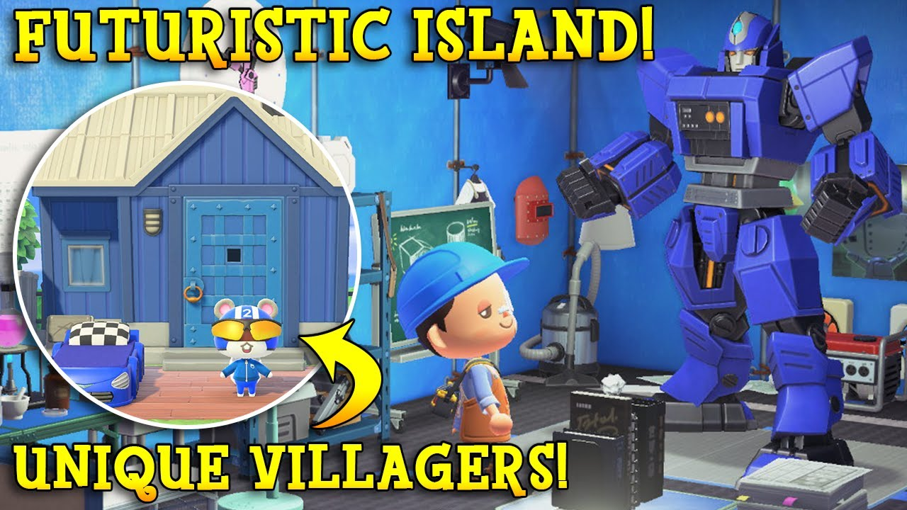 SUPER-SCIENCE & ZERO Time-Travel Island! Tour & Interview | Animal Crossing 5 Star Island To