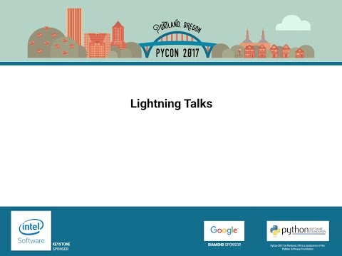 Image from Lightning talks May 21th, 2017 Morning session
