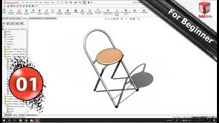 Solidworks Tutorial # 16 A Simple Chair With Sw 01/04