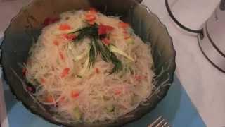 """Легкий салат """"Фунчоза"""" за 10 минут"""