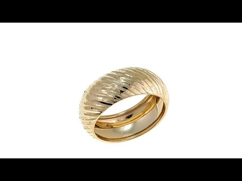 Michael Anthony Jewelry 10K DiamondCut Diagonal Band Ring