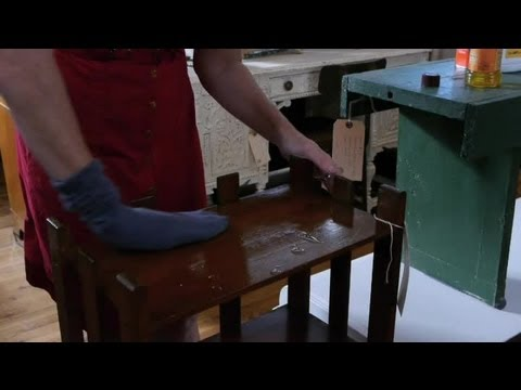 How to Safely Clean Old Wood Furniture : Antique Furniture Care