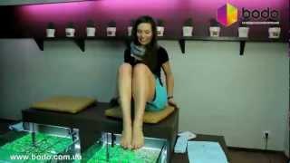видео Педикюр рыбками: специальный рыбий фиш-пилинг для ног