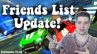 Friends List Update: Das sind die Neuerungen! | Rocket League: News/Infos [German][HD]