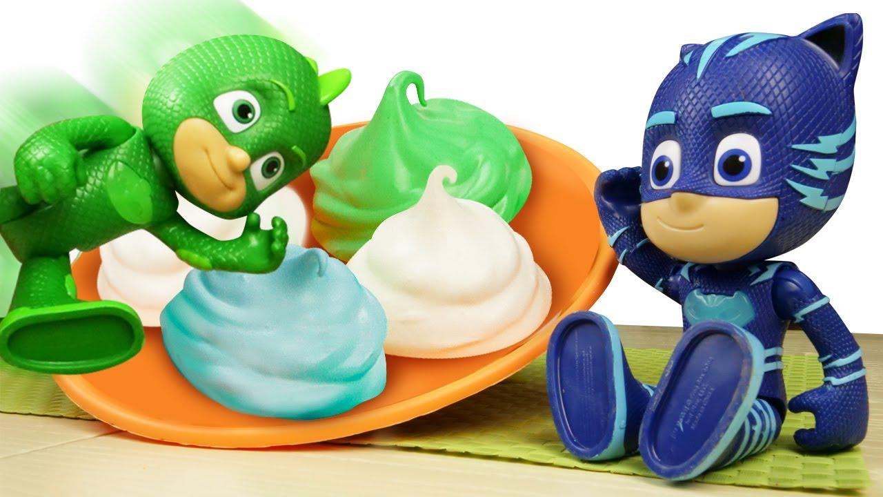 PJ Masks cocinando merengues y otros dulces 🍭 Cocina para niños. Recetas para niños