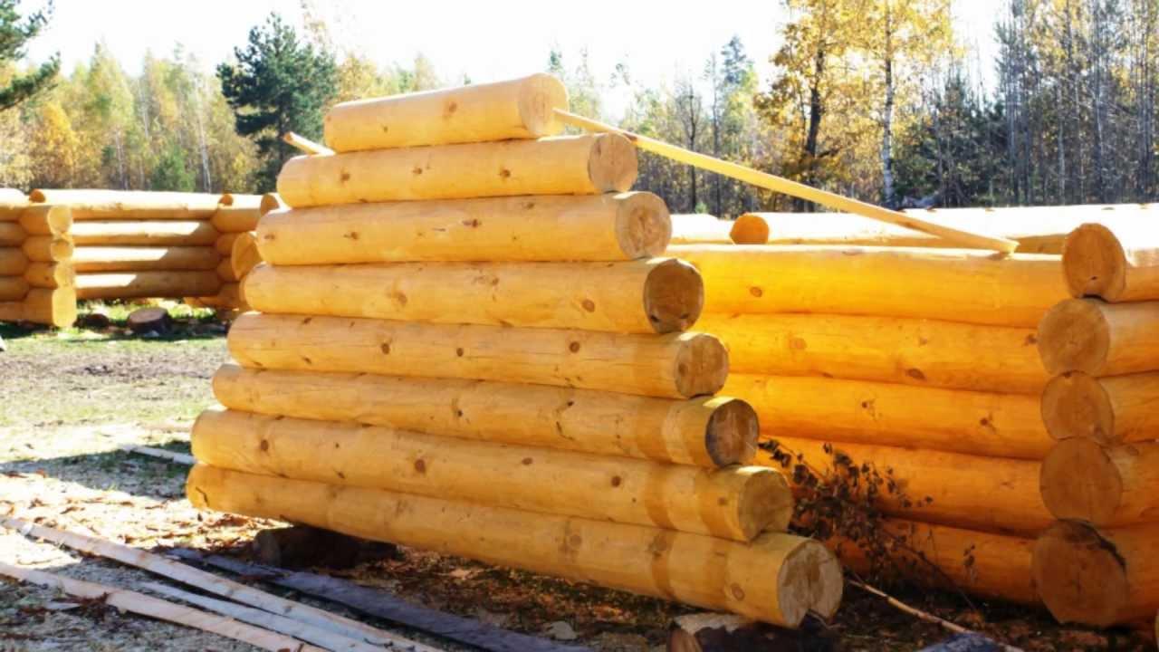 Срубы деревянных домов и бань из Мордовии - YouTube