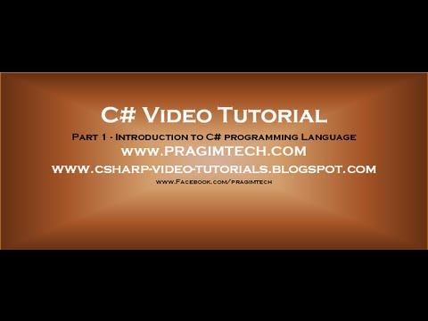 Part 1 - C# Tutorial - Introduction.avi