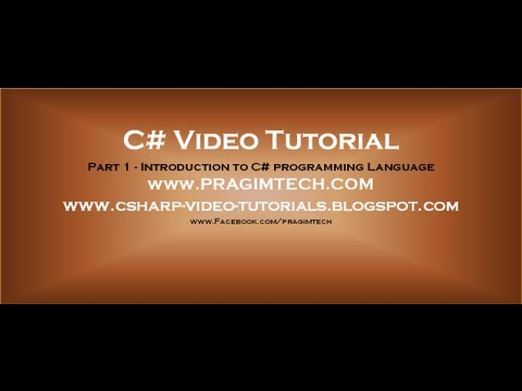 part-1---c#-tutorial---introduction.avi