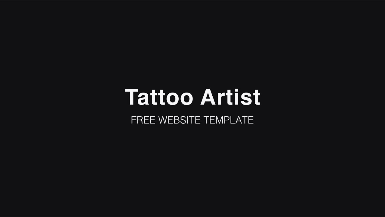 Tattoo Artist - Free website template by IM Creator - YouTube