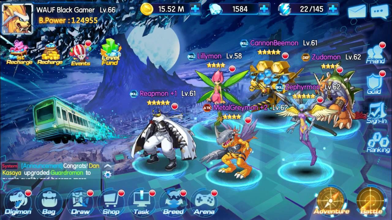 Evolve Monster Digimon World Adventure S 2 Gabumon Oldest Server Die Out Guild Youtube