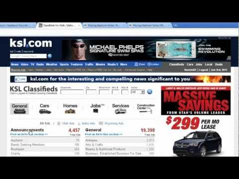 Trading Up - How to Place a classified ad on KSL.com another Craigslist type site.
