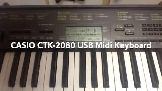 CASIO CTK-2080 USB Midi Music Keyboard - 61 Key Piano