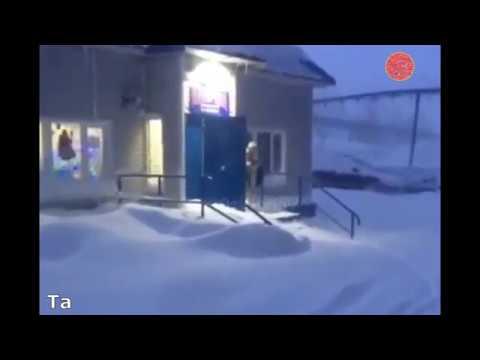 Норильчанин по морозу босиком и в трусах сбегал за водкой в магазин