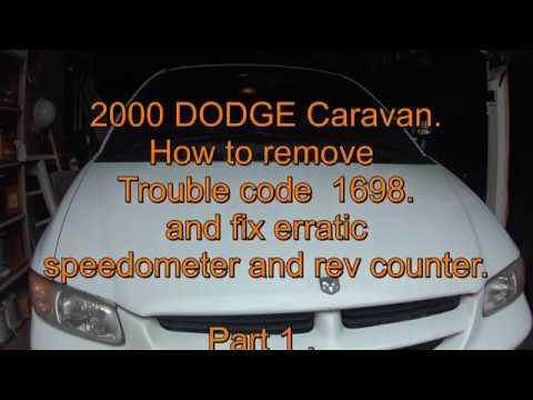 2000 dodge caravan repair code p1698 erratic speedometer and