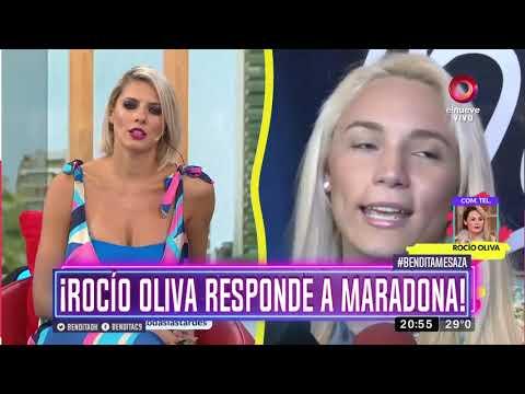 ¡Rocío Oliva responde a Maradona!