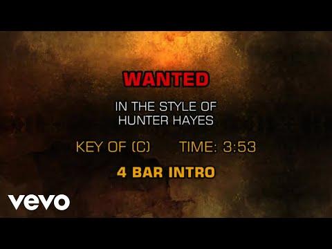 Hunter Hayes - Wanted (Karaoke)