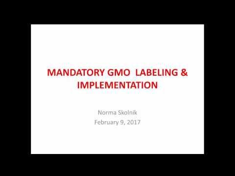FDA Regulation of GMO Labeling