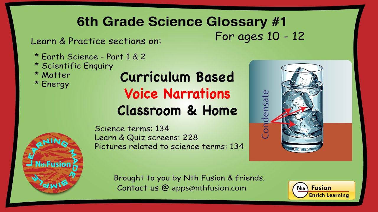 hight resolution of 6th Grade Science Glossary # 1 : Learn and Practice Worksheets for home and  classroom - YouTube
