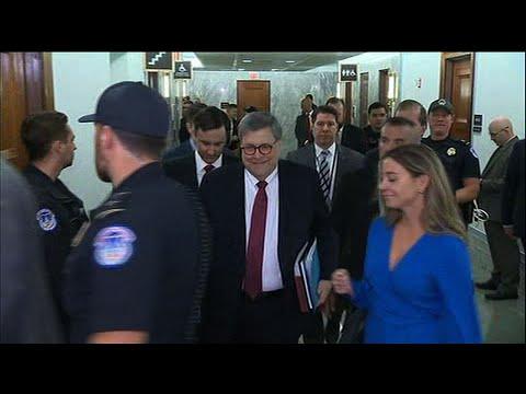 Barr arrives on Capitol Hill for Senate testimony