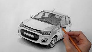 Рисунок карандашом автомобиля