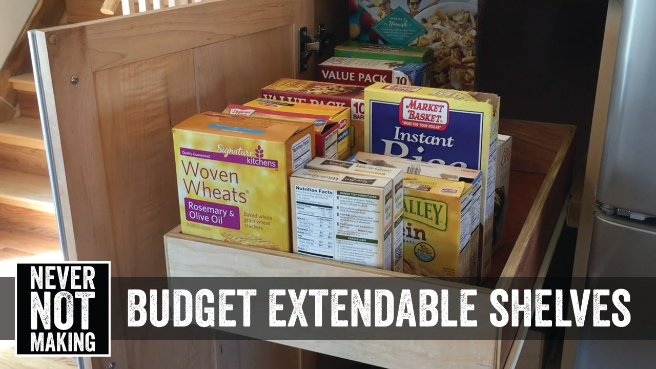 how to make extending shelves for kitchen cabinets on a budget