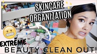 ULTIMATE MAKEUP + SKINCARE ORGANIZATION INSPO | Major Clean With Me!