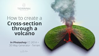 How to create a Cross-Section through a volcano - Photoshop Tutorial