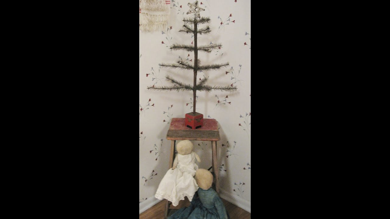 christmas trees primitive simplistic antique decor decorating - Primitive Christmas Tree Decorations