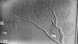 How to design olive tree# carving #stone#design#tree Mural# CNC Design