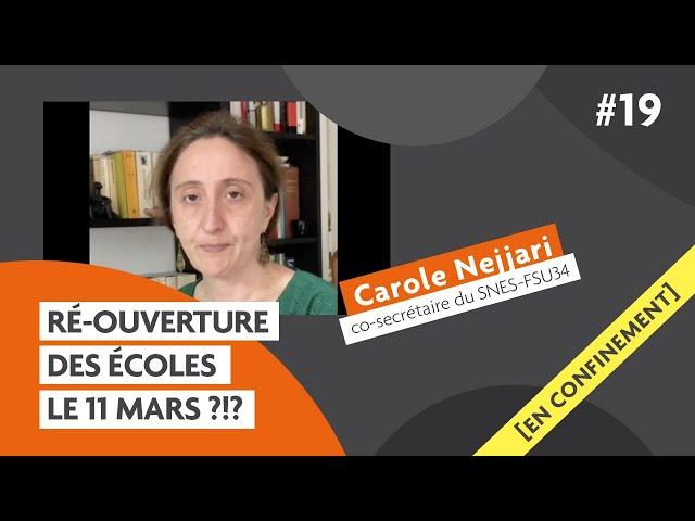 Ré-ouverture des #écoles le #11mai ?!? avec Carole Nejjari: Carmagnole confinée #19