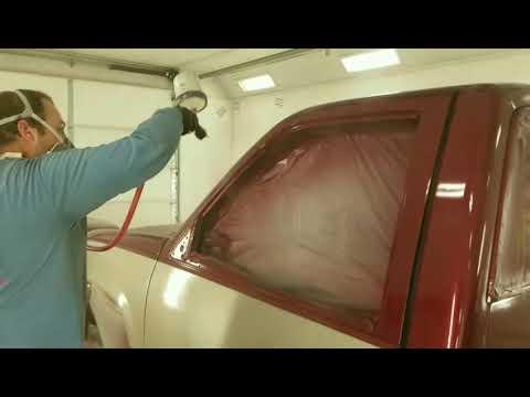 Painting automotive CLEAR COAT...90's model GMC