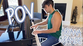 Ariana Grande - POV (Point of View) Piano Cover by Hale Leon | #positions видео