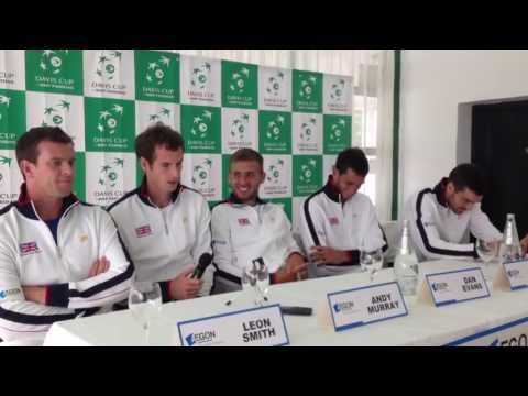 Great Britain's Andy Murray In A Davis Cup Press Conference In Umag, Croatia