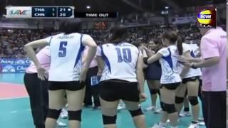 2013 Asian Women Volleyball Championship[Semifinal]:Thailand Vs China