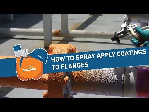 How to Spray Apply Protective Coatings to Flanges
