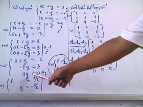 DSTT 1. Ma Tran 1/3 - Đại số tuyến tính- ma trận và các phép biến đổi trên dòng.