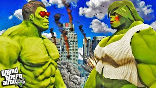 HULK gets a GIRLFRIEND in GTA 5