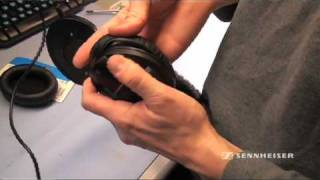 How to replace ear cushions on a Sennheiser HD 280 headphone