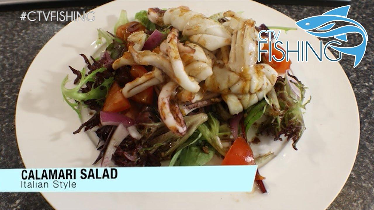 Italian Calamari Salad - CTV Fishing - Catch & Cook - YouTube