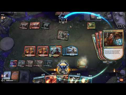 MTG ARENA- Delvador vs Roxy- Blue/Red draw and discard deck vs Mtg arena red/green deck