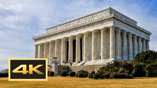 Lincoln Memorial Walking Tour in 4K (WWII, Lincoln & Vietnam Veterans Memorials) -- Washington, D.C.