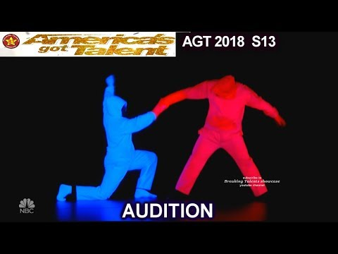 UDI Blacklight Dance Group AWESOME ACT IN DARKNESS America's Got Talent 2018 Audition AGT