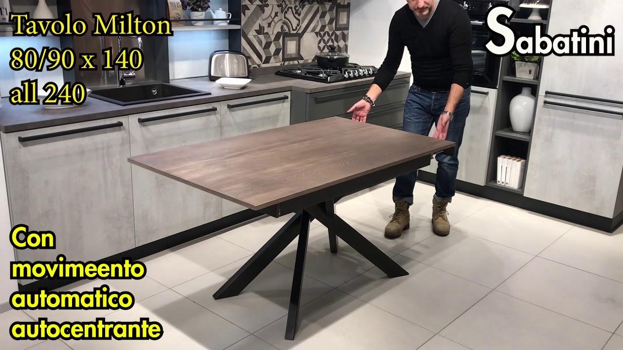 Tavolo Allungabile 140 X 140.Tavolo Modello Milton 80 90 X 140 Allungabile A 240cm Youtube