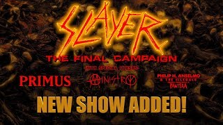 SLAYER - Second Los Angeles Show Added (November 29, 2019)